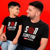 Dad and Son in Machinggo Tshirt