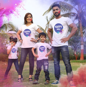 Happy Holi matching family t-shirt