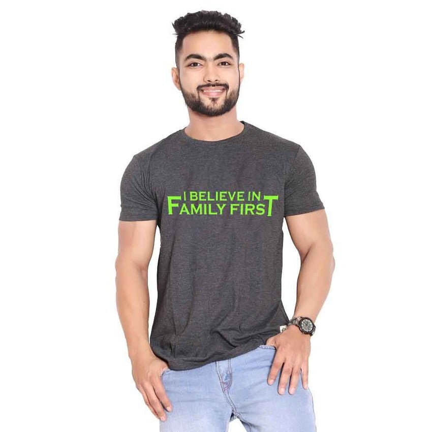 I believe in family first (green)