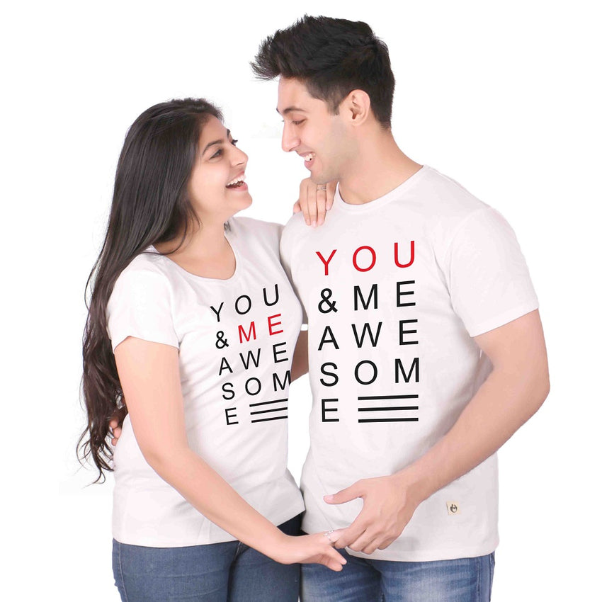 You & Me Awesome Woman T-Shirts