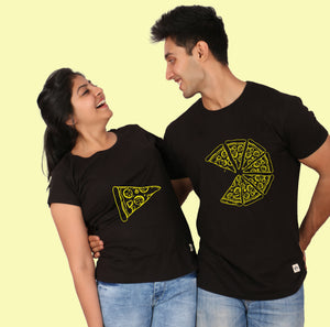 Pizza matching couple t-shirt