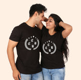 olive leaf matching couple tees