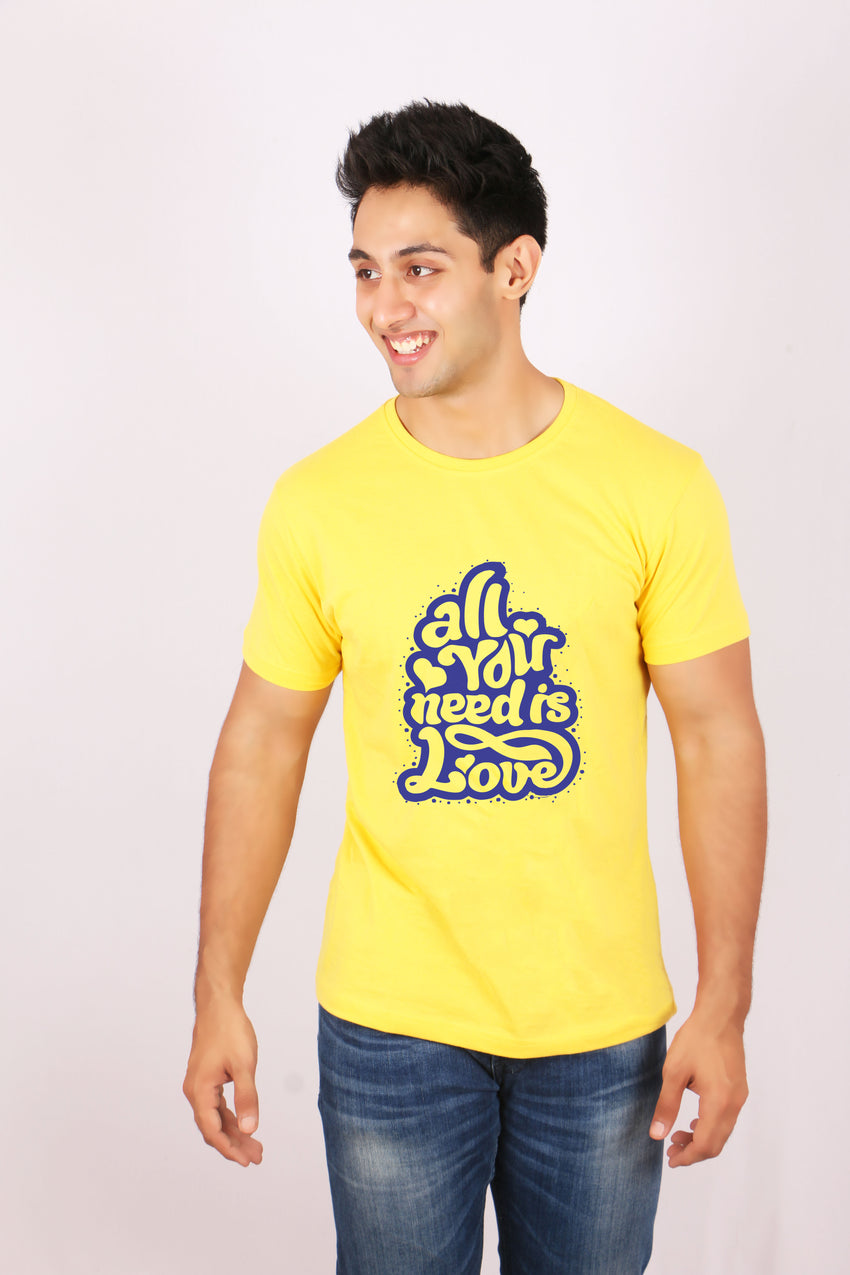 All your needs is love matching t-shirt