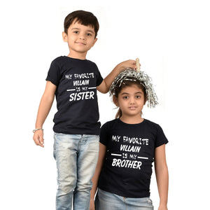 Villan Brother Sister T-Shirts