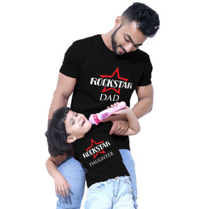 Rockstart Dad Daughter Tees