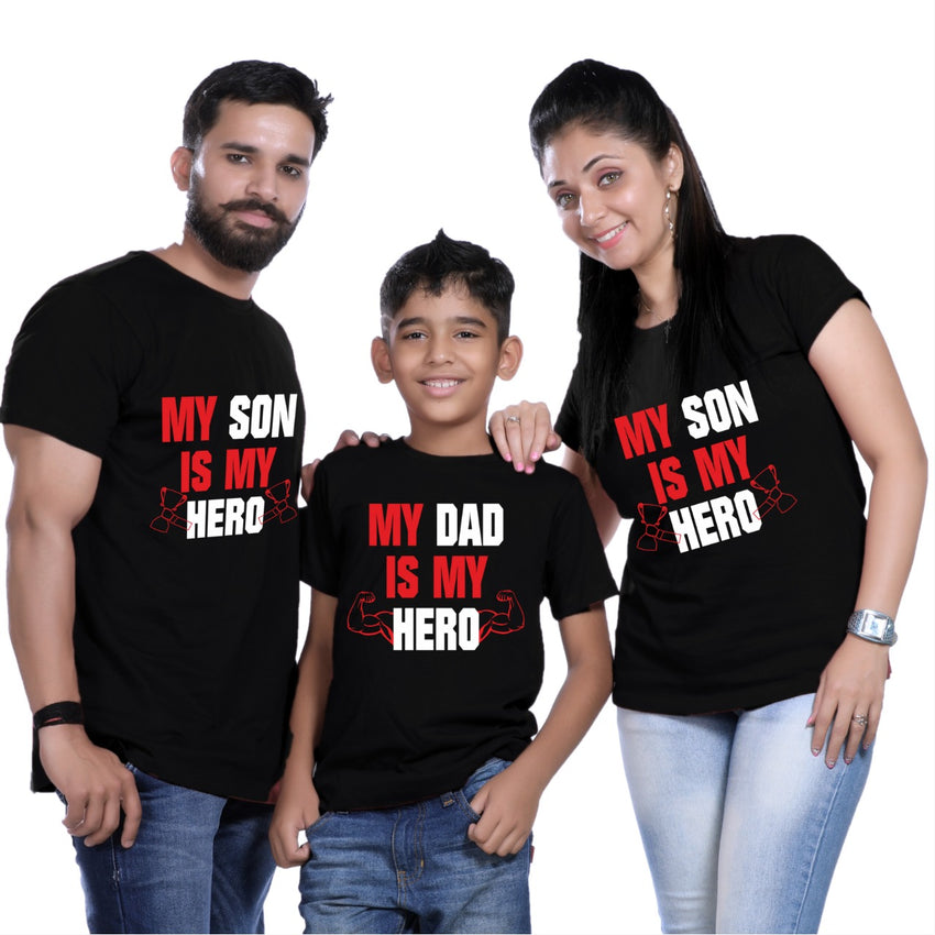 Mom Dad Son T Shirts