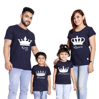 King, Queen, Prince & Princess, Matching Tees For Family