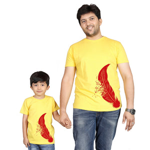Yellow Matching Dad Son T-Shirts