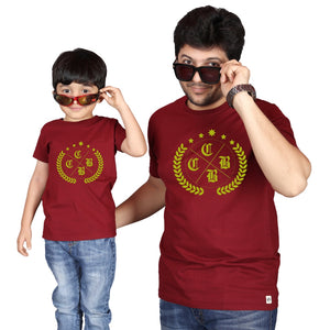 Maroon Dad & Son Tshirt