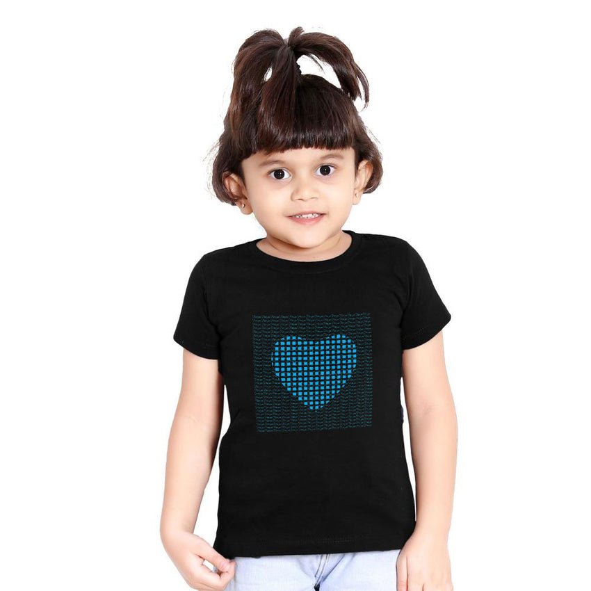 I love you black matching family t-shirt