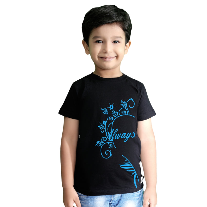 boy wearing family tshirts