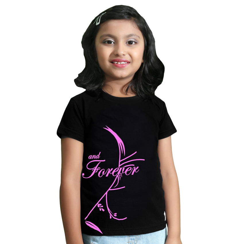 girl wearing family tshirts