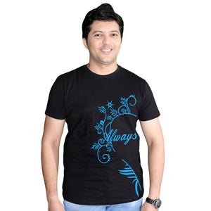 male wearing couple t shirt
