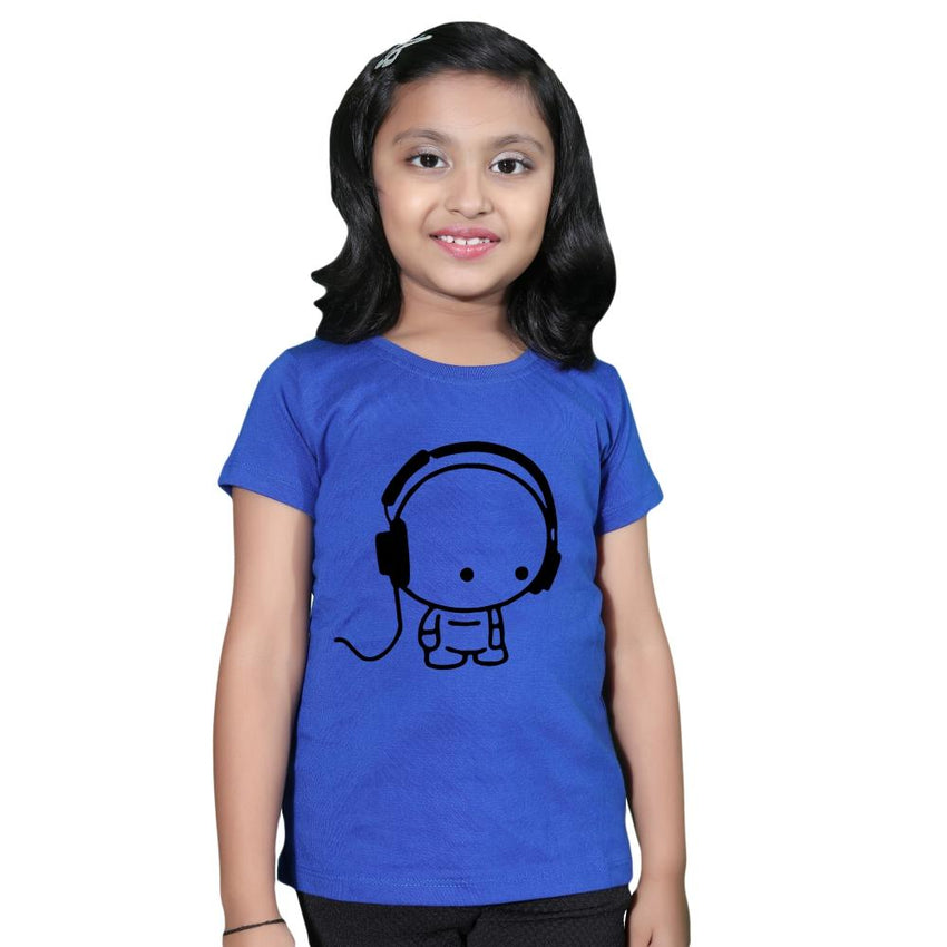 Royal blue woman and daughter matching tees