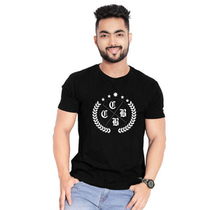 Olive-leaf men black t-shirt