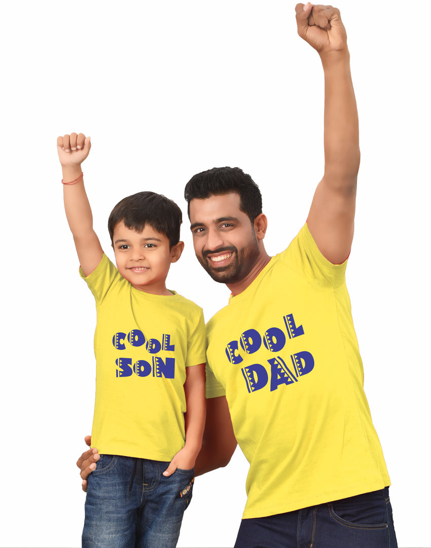 Cool son and Cool dad matching tees