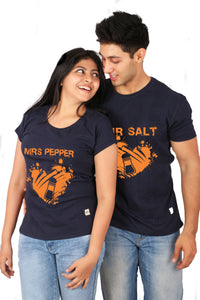 Mr. Salt  & Mrs. Pepper Matching Tees