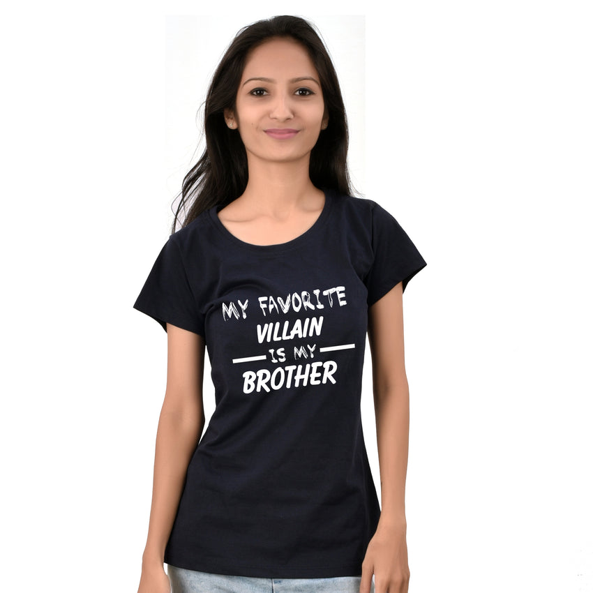 My favorite villain is my brother tees