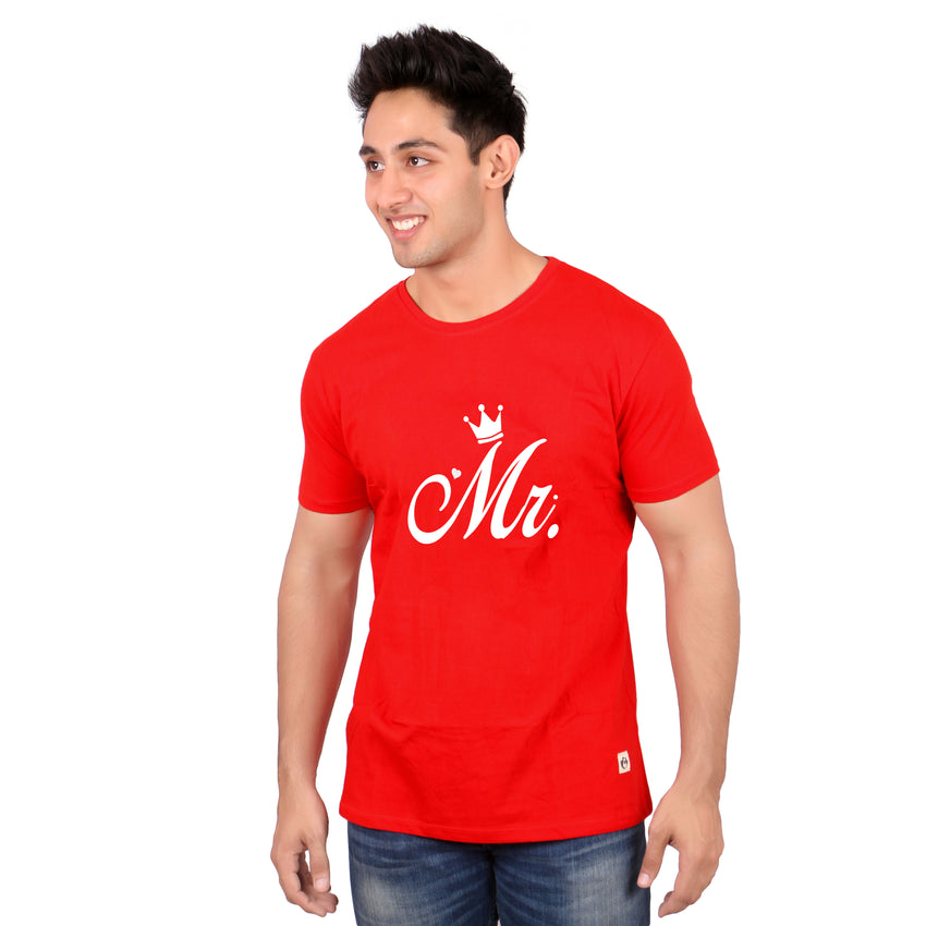 MR and Mrs-matching-tees-red