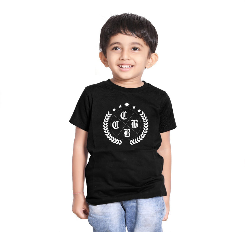OLIVE LEAF FAMILY BLACK MATCHING T-SHIRT