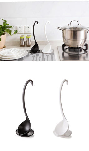 Amazing Deals! 50 % off+Free shipping! Creative Swan Spoon With Tray / Long Handle & Stand Stable