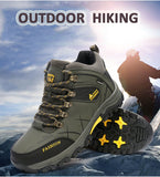 Mens Winter Big Size Trail Hiking Boots Waterproof Antiskid Climb Outdoors Shoes