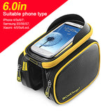 CoolChange Cycling Bike Bicycle Frame Bag Front Tube Bag Double Pouch Pannier Phone Holder