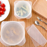 Amazing deal: 100% OFF! STRETCH AND FRESH REUSABLE SILICONE FOOD SAVERS - SET OF 4