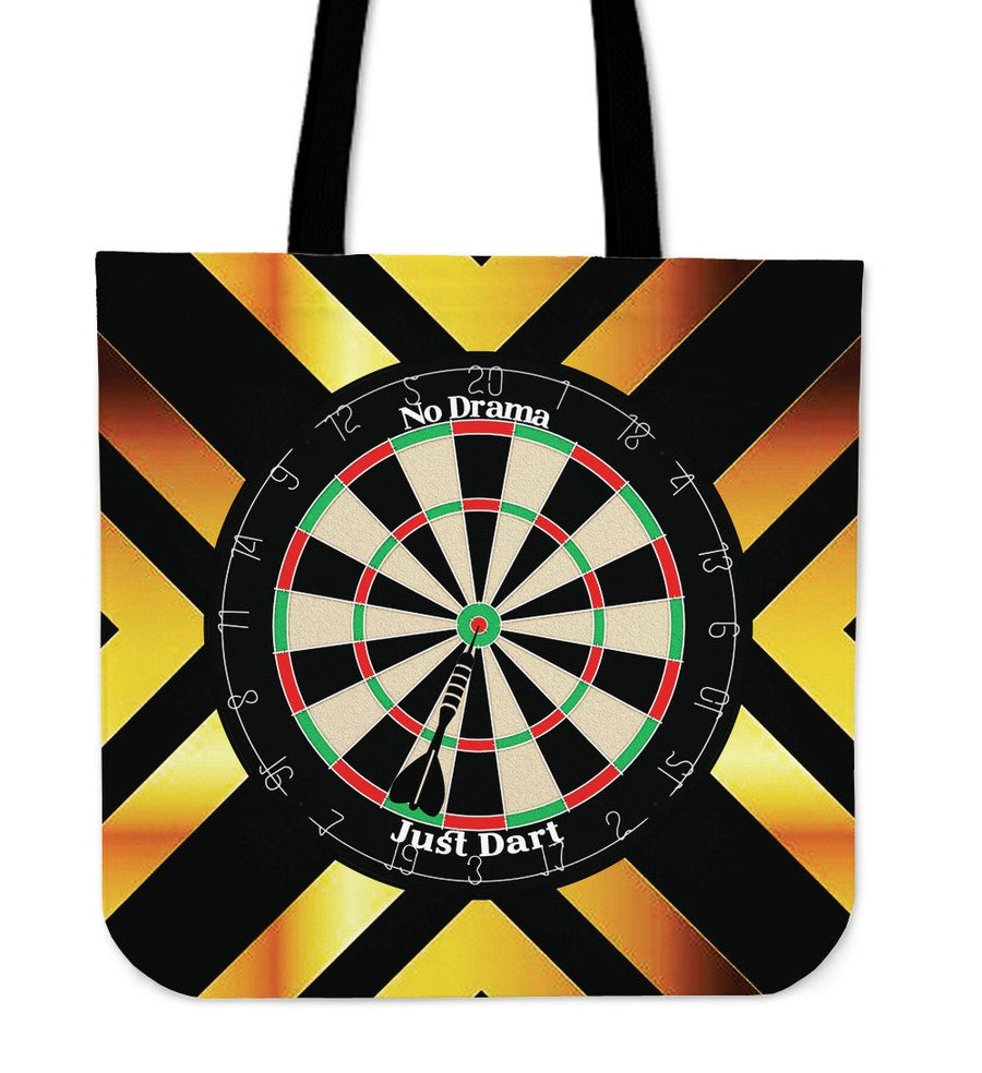 No Drama, Just Dart Tote Bag - Yellow