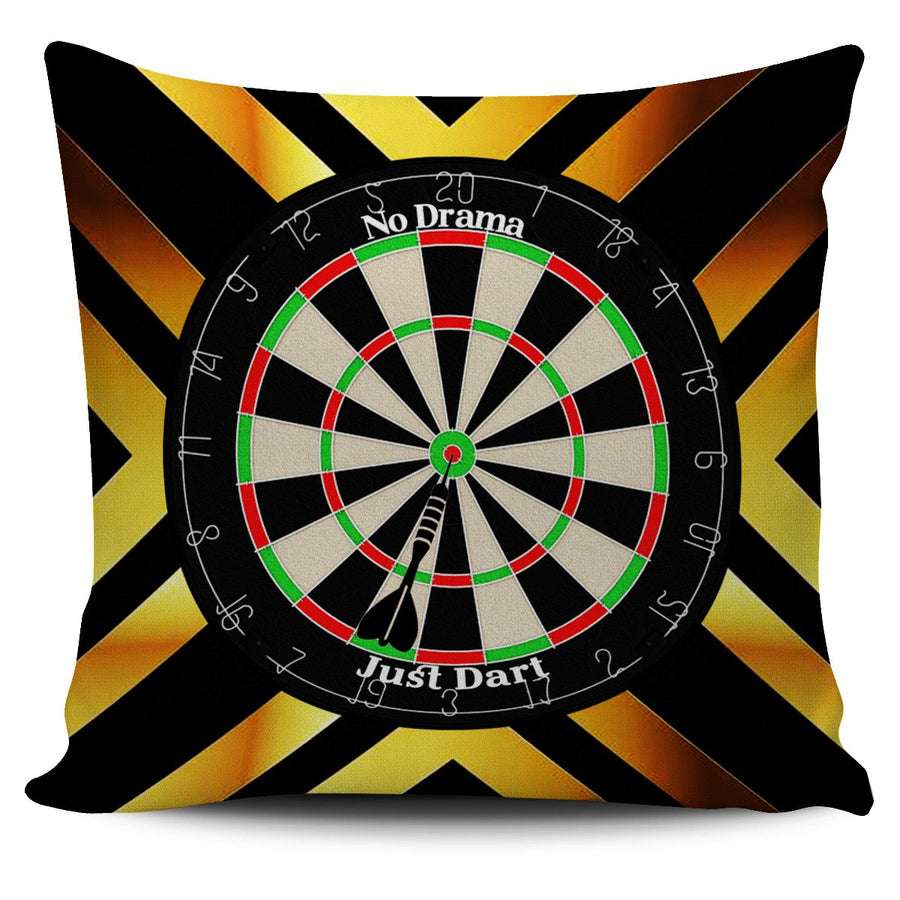 No Drama, Just Dart Pillow Cover - Yellow