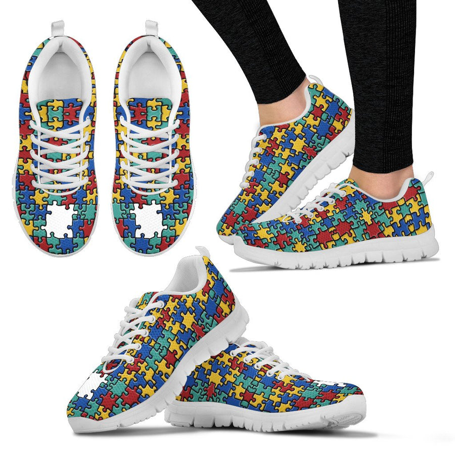 Autism Colorful Puzzle Sneakers