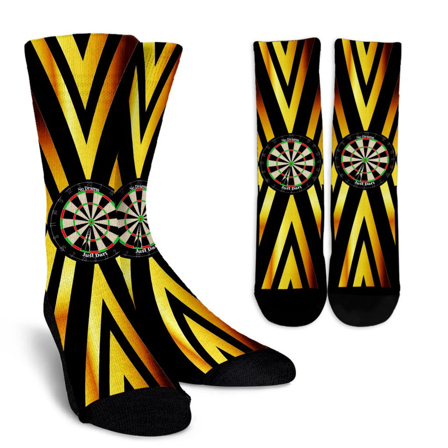 No Drama, Just Dart Crew Socks - Yellow