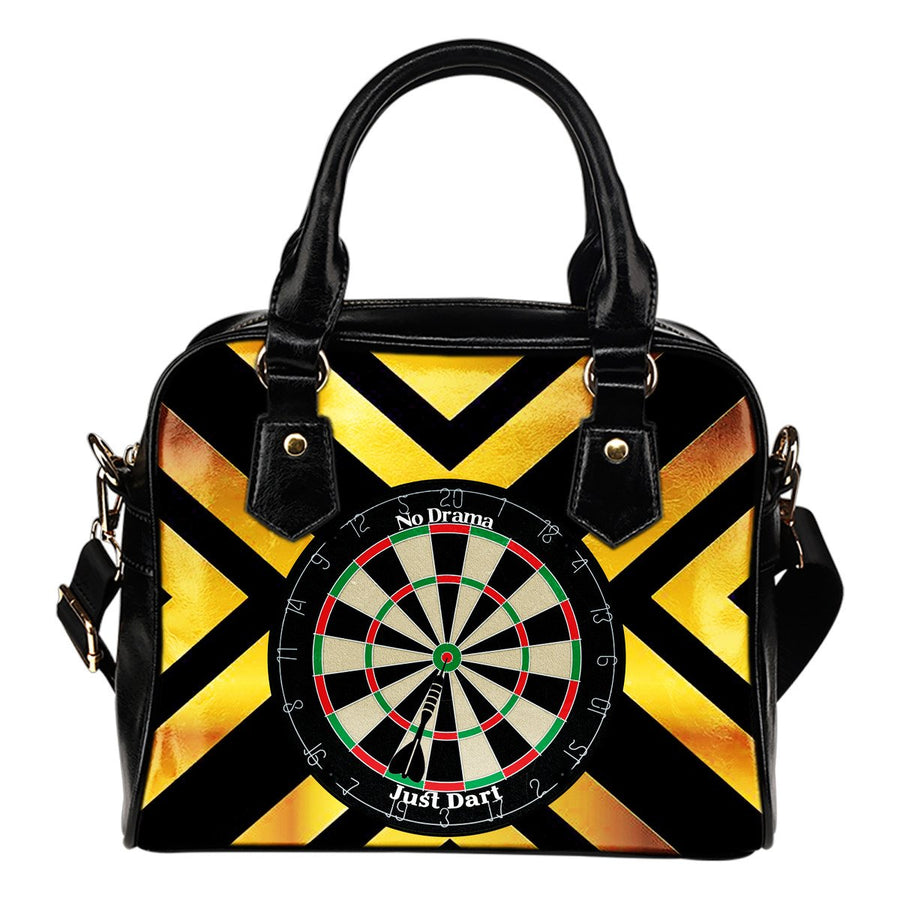 No Drama, Just Dart Shoulder Handbag - Yellow