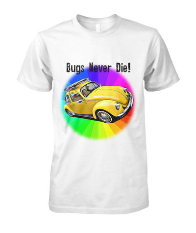 Bugs Never Die Tees - White