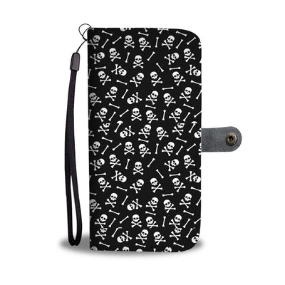 Classic Skulls and Bones Wallet Phone Case