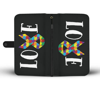 Autism Love Ribbon Wallet Case