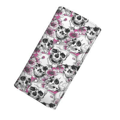 Skulls with Pink Flowers Women's Wallet 2