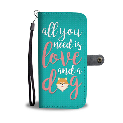 All You Need Is Love and a Dog Wallet Case