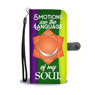 Sacral Chakra - Emotions Are The Language Of My Soul RFID-Blocking Phone Wallet Case