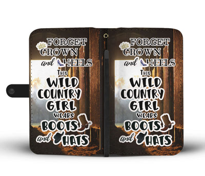 Forget Crown and Heels This Wild Country Girl Wears Boots and Hats RFID-Blocking Phone Wallet Case