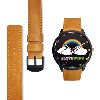 Awesome Love Wins Rainbow LGBT Pride Custom-Designed Watch
