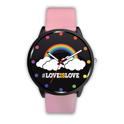 Awesome Love Is Love Rainbow LGBT Pride Custom-Designed Watch