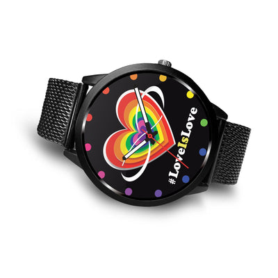 Awesome Love Is Love with Heart & Infinity LGBT Pride Custom-Designed Watch