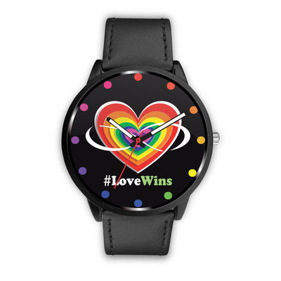 Awesome Love Wins with Heart & Infinity LGBT Pride Custom-Designed Watch