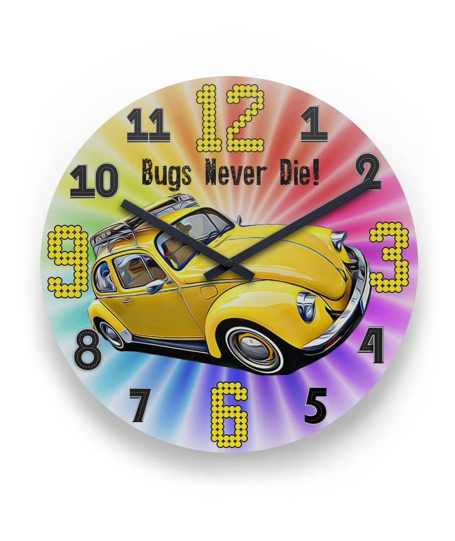 "Bugs Never Die 11"" Round Wall Clock"