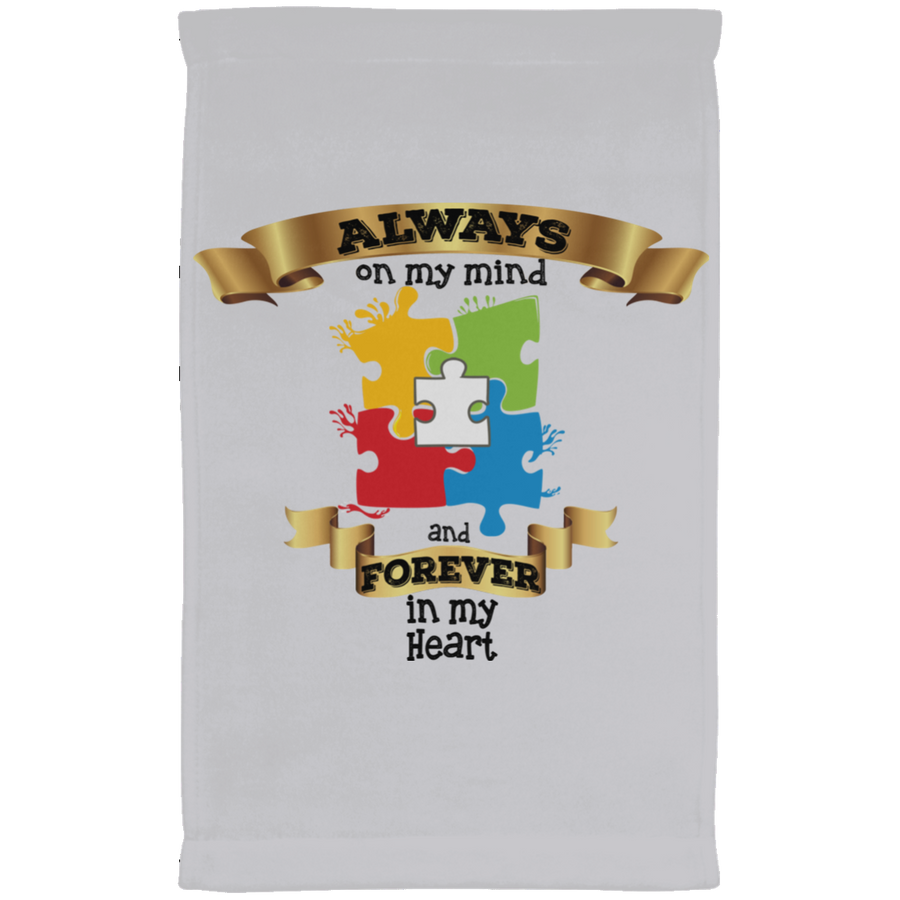 Always On My Mind Forever in My Heart Kitchen Towel - Autism