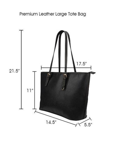 Grandmas are Mommies Leather Tote Bag (Large) - Black