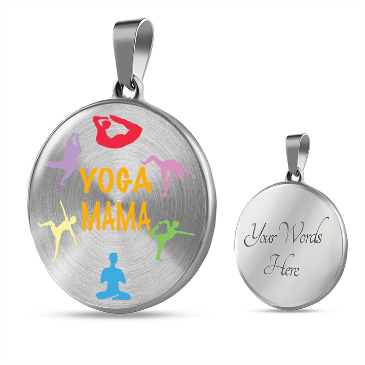 Yoga Mama Circle - Necklace w/ Adjustable Chain
