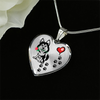 Awesome Husky with Rose and Paw Prints Leading To Your Heart Adjustable Luxury Necklace or Bangle