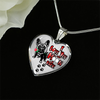 French Bulldog - I Love You To The Moon and Back - With Rose and Paw Prints - Luxury Adjustable Necklace or Bangle